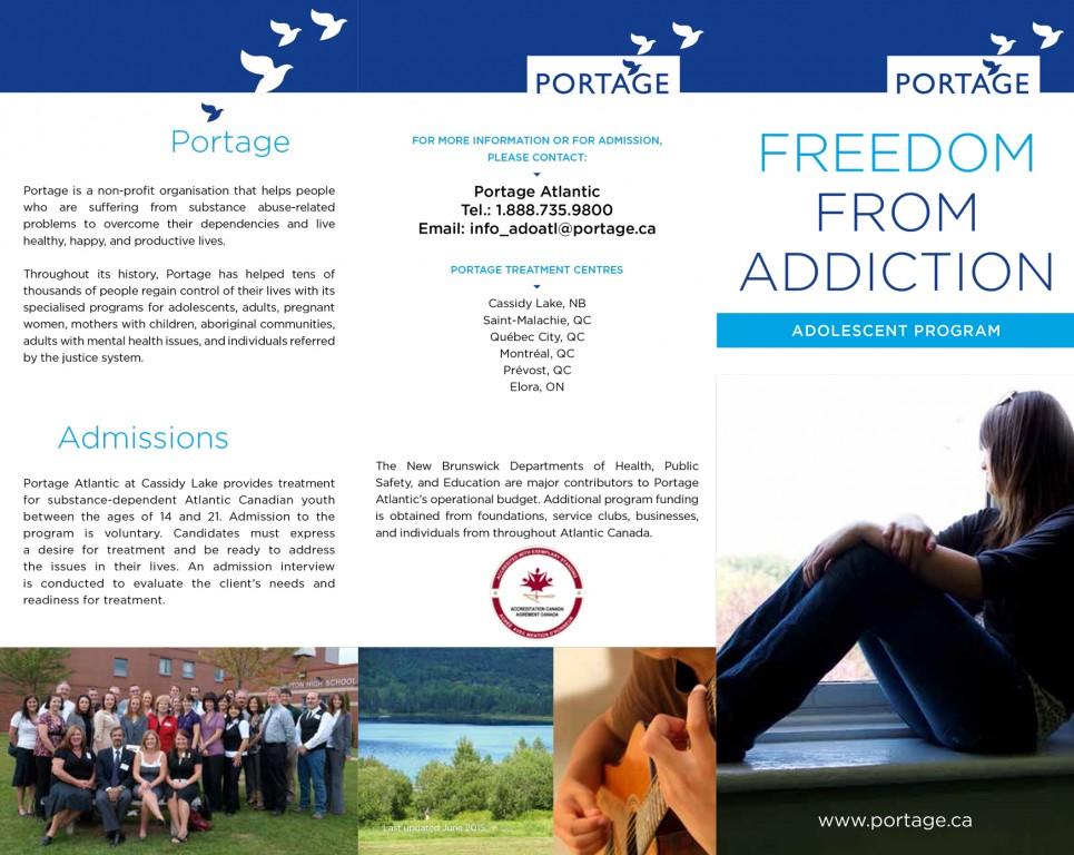 Adolescent program brochure - Portage Atlantic - English
