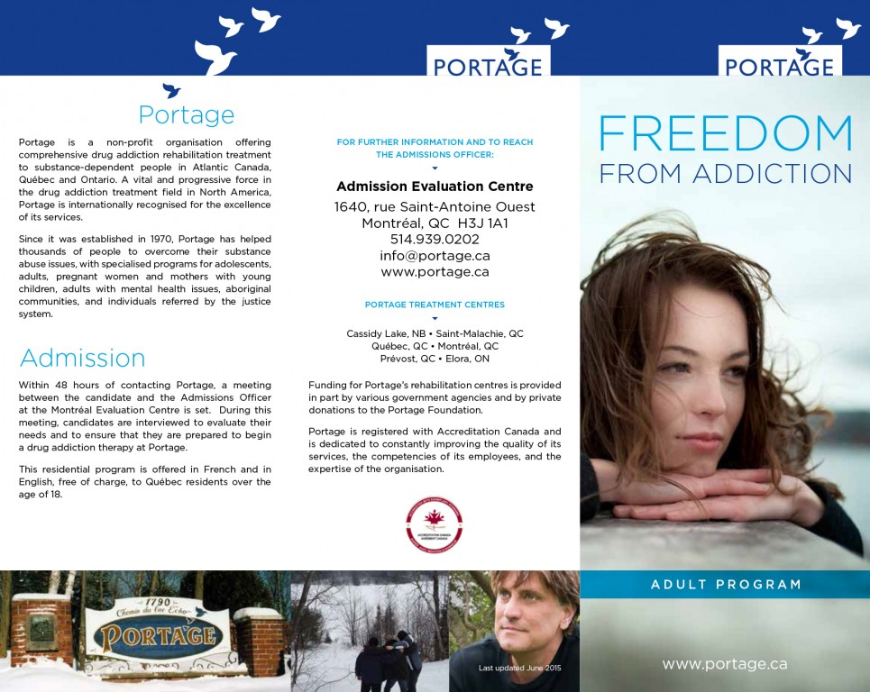 Adult program - Portage - Brochure - English