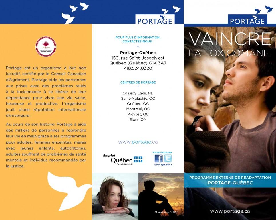 Programme externe en réadaptation - Portage - Dépliant français