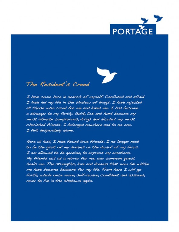 Portage Resident's Creed