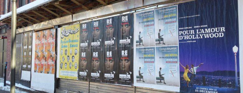 Publicité Portage dans la rue - Campagne RE