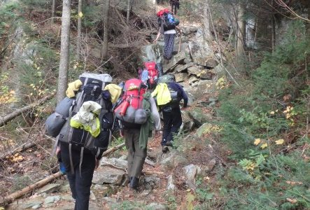 Portage residents during Outward Bound expedition