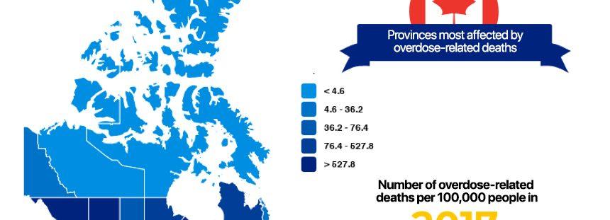 Infography overdose crisis canada