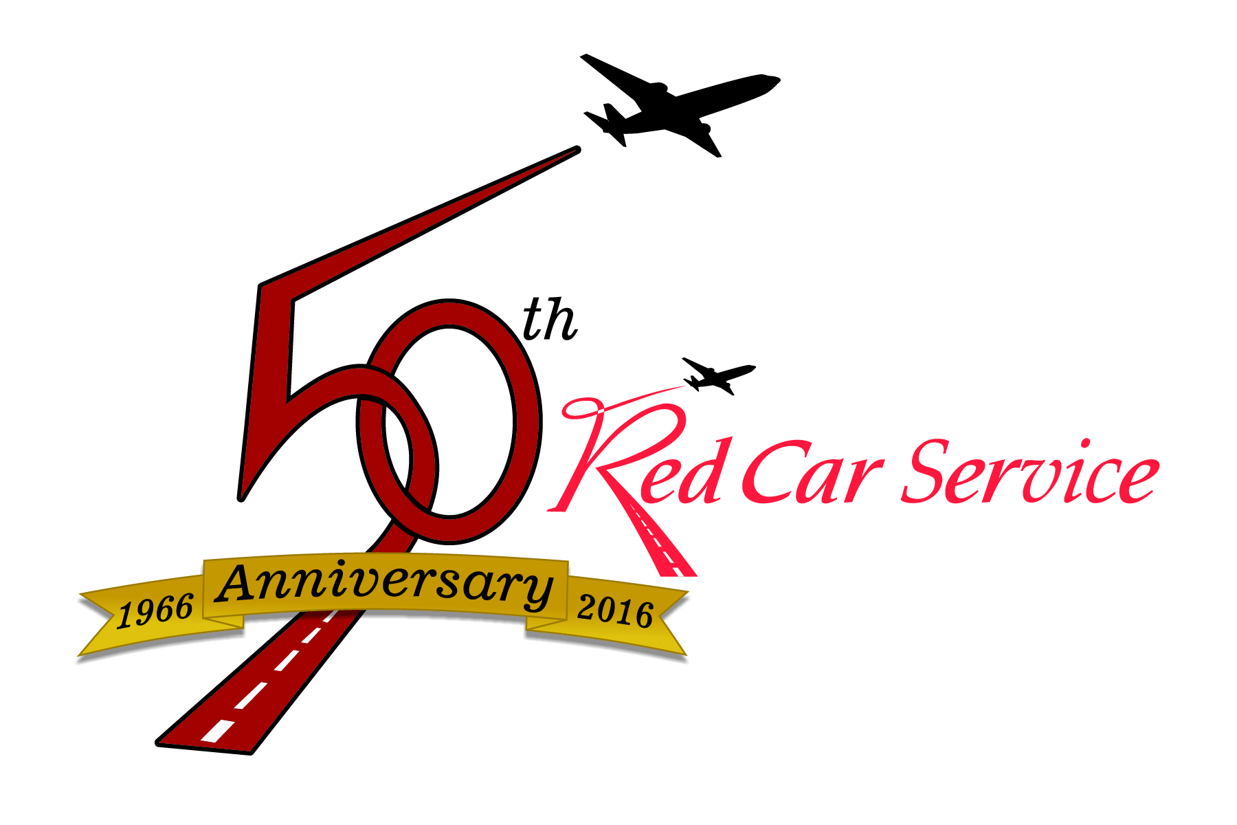 Red Car 50th with logo