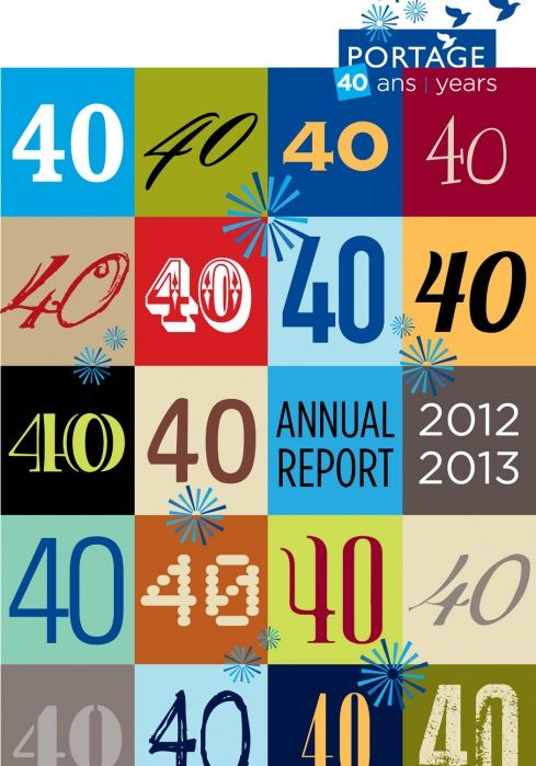 Portage Annual Report 2012-2013- english cover