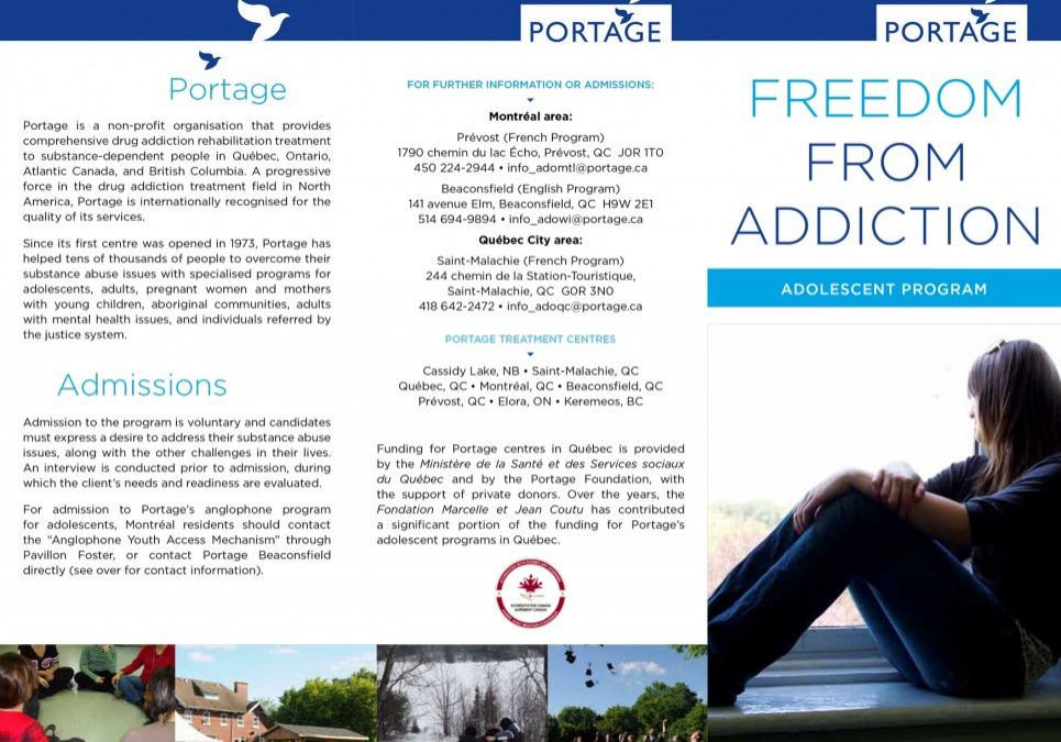 Portage - adolescent program - Brochure - English