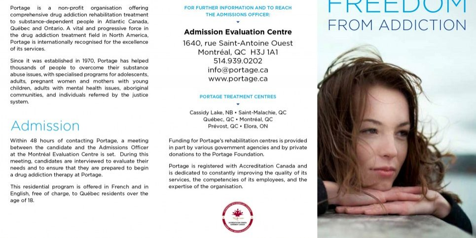 Adult program - Portage - Brochure - English