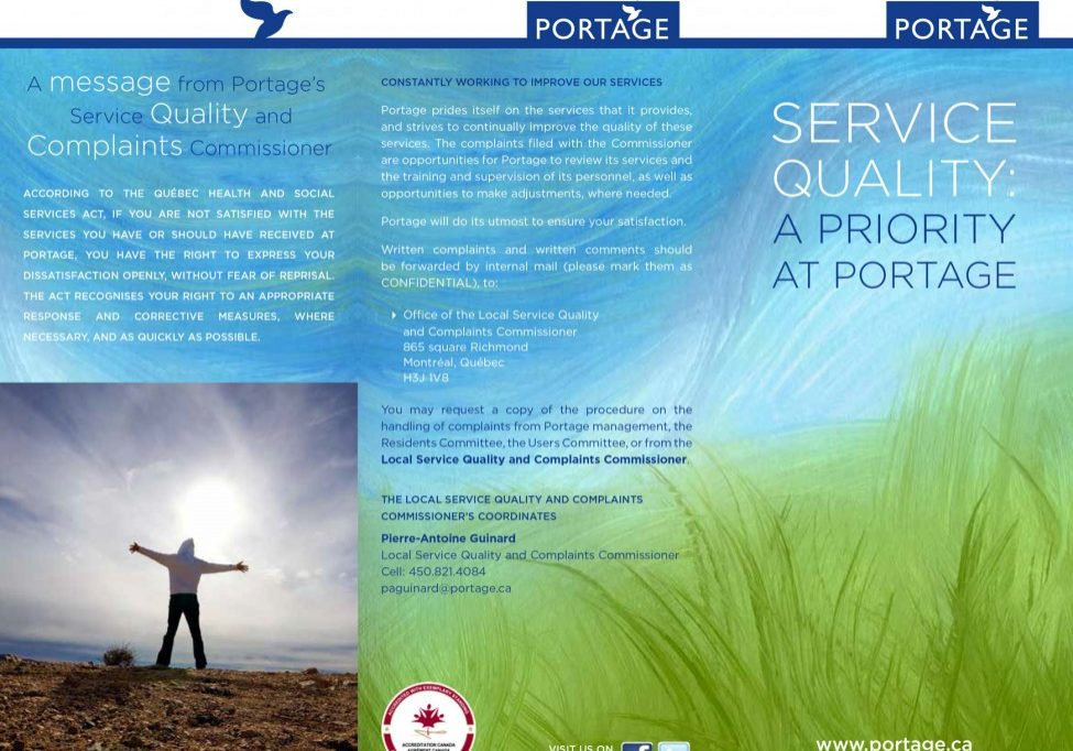 Brochure - complaints commissionner - english -Portage